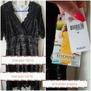 Black kiyonna lace dress